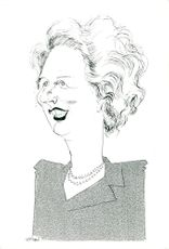 Caricature of Margaret Thatcher