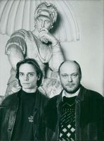 """Swedish actor Gerhard Hoberstorfer and Tomas Laustiola in the program """"Hermione, my sister""""."""