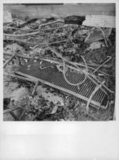 Rubble, burnt things, wood, metal all over the place during war in Finland.  - 1940