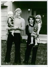 Christer Abrahamsson and his family, 1976.