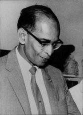 Photo of British Guiana Minister of Finance Dr. Charles Jacob, Jr in Dr. Jagan's Government.