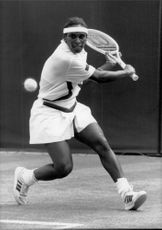 Zina Garrison, USA, during a match in the US Open.