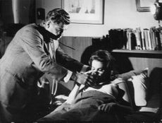 """A scene from the film, """"The Christine Keeler Story"""", 1963."""