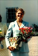 Crown Princess Victoria received flowers and packages during her 21st anniversary at Solliden.