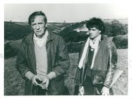 """Yves Montand and Laurent Malet in the movie """"Roads to the South"""""""
