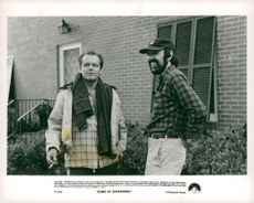 """ActorJack Nicholson during the filming of the film """"Proof of Vision"""""""