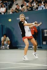 Steffi Graf in the meeting with Patty Schneider during the US Open.