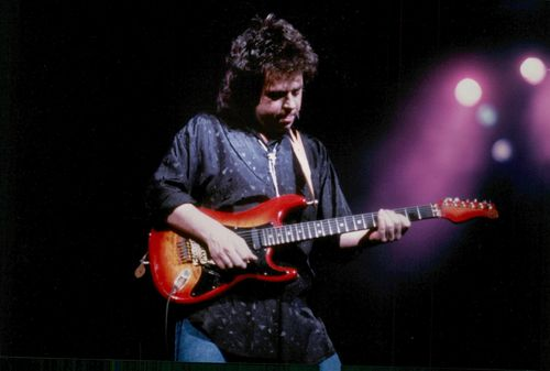 Steven Lukather on stage.