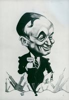 Foreign Minister Georges Bidault in a caricature of Maudouit