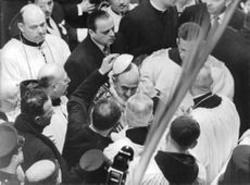 Pope Paul VI amongst the people.