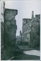 Vintage photo of ruins of houses, building and establishments all over the town left by the wounds of war in 1945.