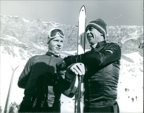 two venning athletes observing the location.