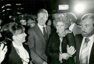 """Roger Moore and his wife Luisa at the premiere of the James Bond movie """"Moonraker"""" in Paris"""