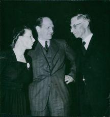 1945 A party to celebrate the end of World War II and the freedom for Norway and Denmark.