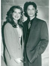 Actors Brooke Shields and Masaya Kato