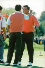 Portrait of the golfers Severiano Ballesteros and Jose Maria Olazabal