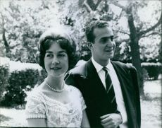 Juan Carlos and Queen Sofia photographed together.