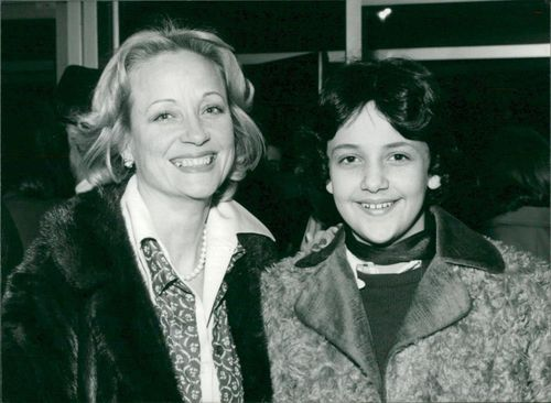 Sylvia Syms and her son.