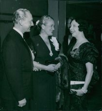 1949 Einar Beyron, Brita Hertzberg and Marguerite Gauntier-Wenner-Gren at the opera.