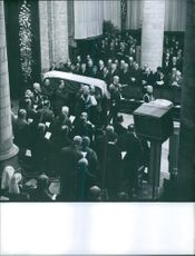 Funeral Ceremony of Queen Wilhelmina of the Netherlands, 1962.