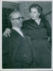 Calle Jularbo posing with his wife Sally. 1954.