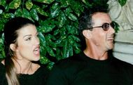 Sylvester Stallone with girlfriend Janice Dickinson