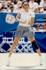 The tennis player Monica Seles during the US Open 1995