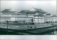 A view of the newly completed People's Palace of Culture in Pyongyang, 1974.