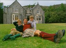 Prince Charles with sons Prince William and Prince Harry