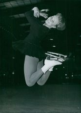 British skater Yvonne Suddick in action, 1964.
