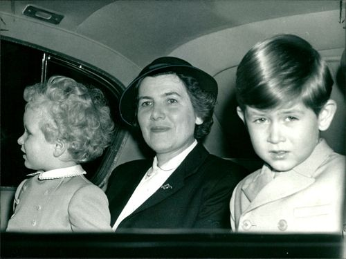 Helen Lightbody with princess anne and prince charles.