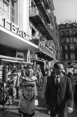 Princess Irene of the Netherlands strolling with her husband Duke Carlos Hugo in the city. 1968.