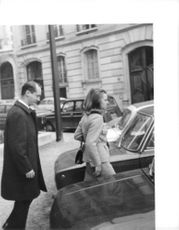 Princess Irene and Carlos Hugo going to their car, 1969.