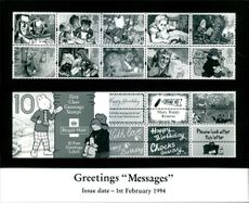 """Stamps: British Commonwealth: Greetings """"Messages""""."""