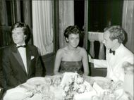 R. Rossellini, Deborah Moore and Prince Albert of Monaco