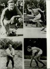 Soviet Olympic athletes Valeri Borzov (the top 2 pictures), Anatoli Bondarchuk and Yevgeni Arzhanov