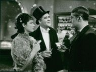 Movie scene from The Beloved Vagabond (1936) - with Maurice Chevalier and Margaret Lockwood