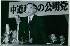 Ryotaro Azuma delivering his speech.