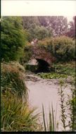 A bridge over the moat at Elsing Hall.