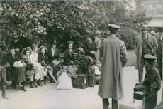 Germans from Russia, waiting to travel home. 1914