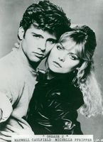 """Maxwell Caulfield and Michelle Pfeiffer in """"Grease 2"""""""
