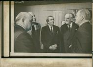 Viscount William Whitelaw with Soviet leaders