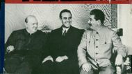 Winston Churchill, Averell Harriman and Josef Stalin