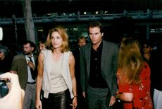 "Cindy Crawford with her fiancé, Randy Gerber movie premiere of ""Fathers Day"" in LA"