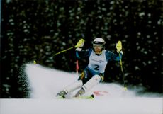 Pernilla Wiberg runs an alpine combination, slalom, in Hafjell