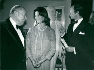 American jazz musician Woody Herman in concert with the Swedish king parade during the gala dinner at the Oscar Theater.