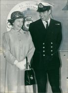 Prince Andrew, Duke of York with his mother
