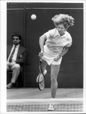 Steffi Graf in a match in the Wimbledon tournament in 1987.