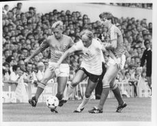 Alan Brazil is fighting for the ball