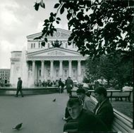 Russia's national scene Bolshevik Theater in Moscow 1979.